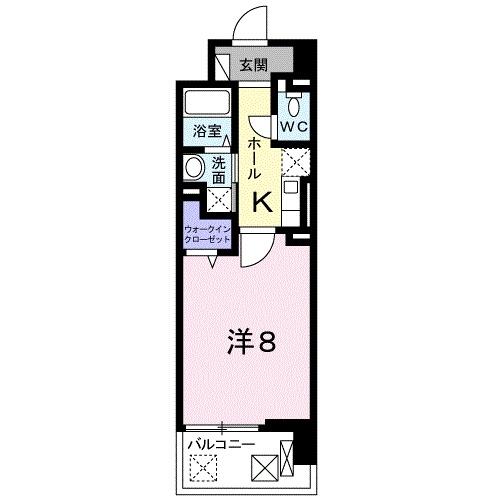 クラシェス尼崎・02030号室の間取り