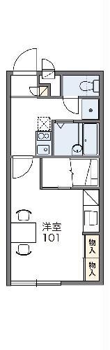 レオパレスUTSUMI・205号室の間取り