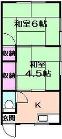塚田アパート・202号室の間取り