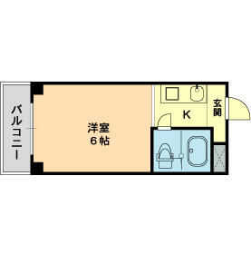 メゾン・ド・トレーズ・0203号室の間取り
