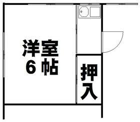 山秀アパート・202号室の間取り