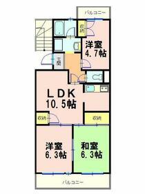 ローレルマンション太田 B・303号室の間取り