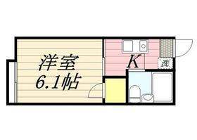 シティハイムA棟 0103号室の間取り