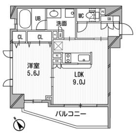 クリオ渋谷ラ・モード・601号室の間取り