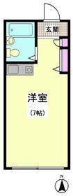 アーバンフラッツ蒲田本町・103号室の間取り