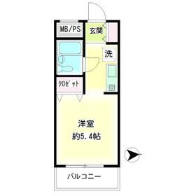 第57新井ビル・00402号室の間取り