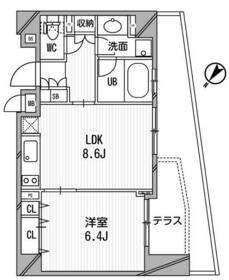 クリオ渋谷ラ・モード・102号室の間取り