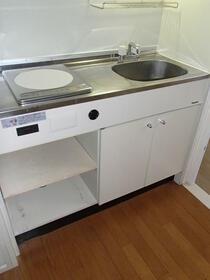 Queens Academia 206号室のキッチン