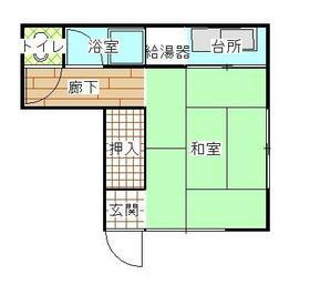 江戸川区生活保護住宅・201号室の間取り