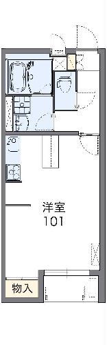 レオネクストパーシモン・208号室の間取り