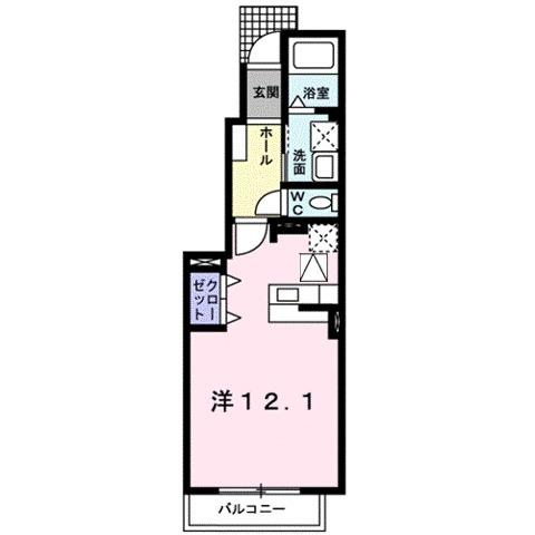 ルミエ-ルⅠ・01050号室の間取り