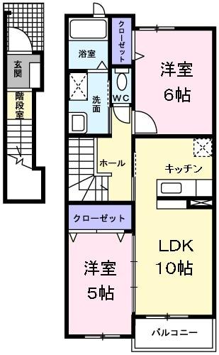 フロレスタ桜木・02020号室の間取り