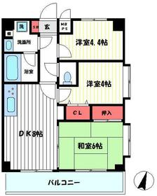 ライオンズマンション東青梅第三・401号室の間取り