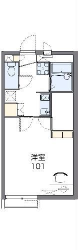 レオネクストHEISAKA・206号室の間取り