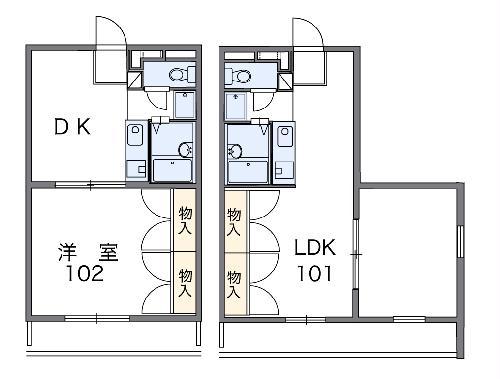 レオパレスJYURAKU・203号室の間取り