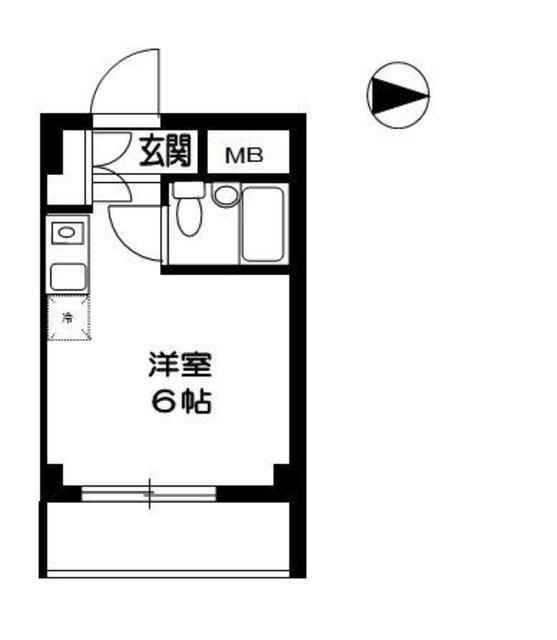 TOP東村山 B棟・505号室の間取り