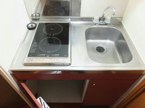 レオパレスセカンドなわて 208号室のキッチン