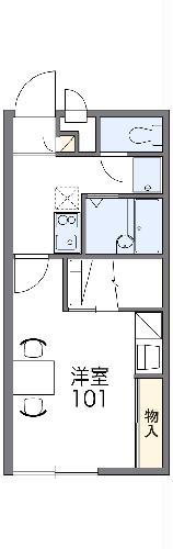 レオパレス毬Ⅱ・101号室の間取り