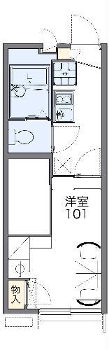 レオパレスツバキハウス・103号室の間取り