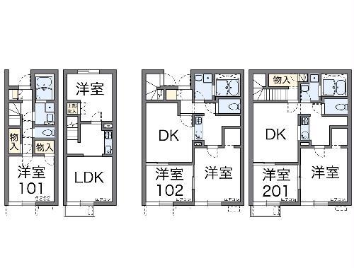 レオネクスト富士Ⅱ・105号室の間取り