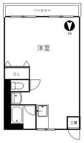 横山マンション・403号室の間取り