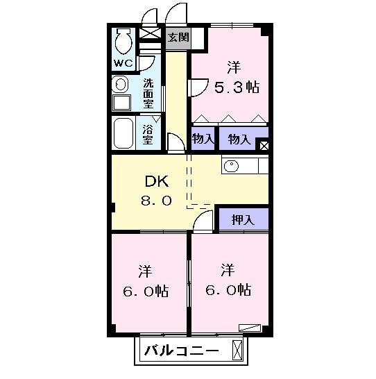 ファミールS・02030号室の間取り