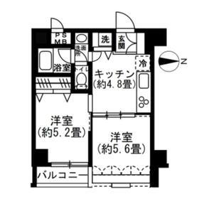 SOCIETY EBARA-NAKANOBU・303号室の間取り
