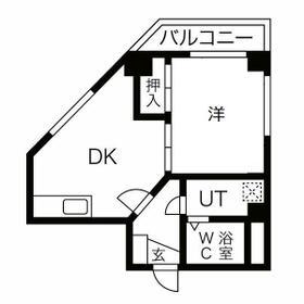 ドエルクレスト新蒲田 303号室の間取り