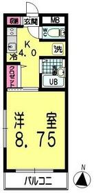 エフォート若葉台・205号室の間取り