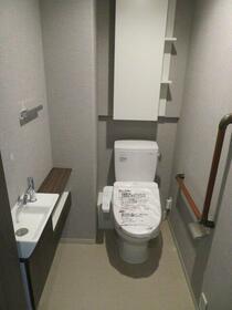 デュオセーヌ国立 242号室のトイレ