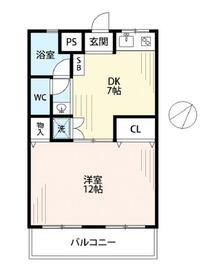 東武大和田サンライトマンション 102号室の間取り