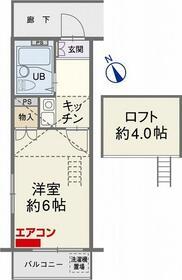 フローラ砂口 2階・208号室の間取り