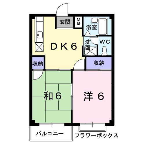 エルデムコーヨーA・02010号室の間取り
