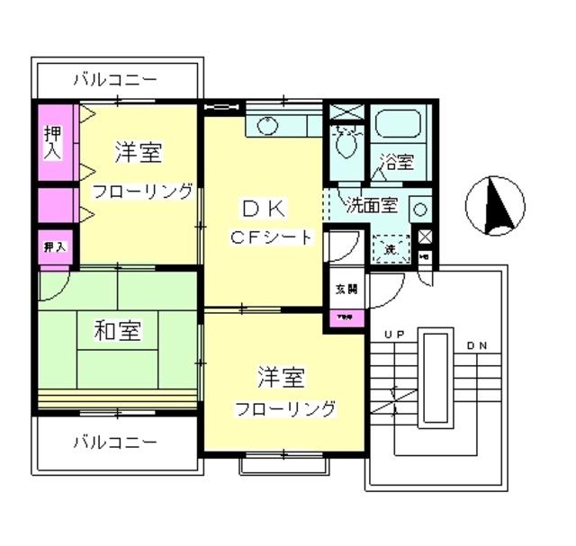 アパートメントスペース1・301号室の間取り