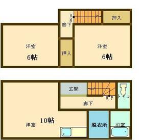 スクエアパークアパートメントⅠ・301号室の間取り