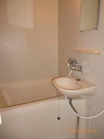 西大沼アパート 201号室の洗面所