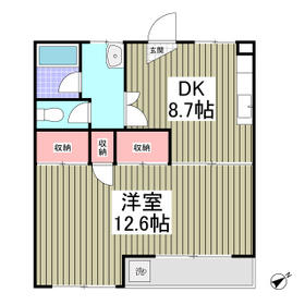 DOMUSマンション C-2号室の間取り
