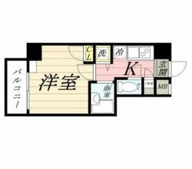 PLEASTYLE川崎・0401号室の間取り