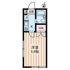 Studio Fujita 0101号室の間取り