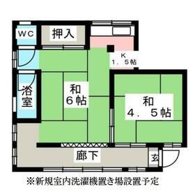 江戸川区上一色生活保護住宅・202号室の間取り