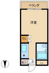 メゾン朋泉Ⅱ・407号室の間取り