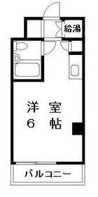 日興パレス横浜 514号室の間取り