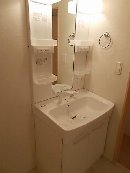 ファミリエB 02010号室の洗面所
