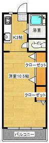 川口ビル第2マンション・307号室の間取り