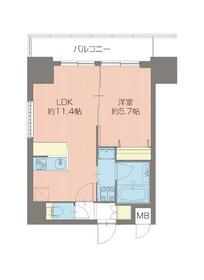 プレジオ新大阪ROUGE 806号室の間取り