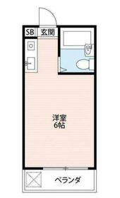 シティハイツ富士見 205号室の間取り