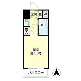 第52新井ビル・00804号室の間取り