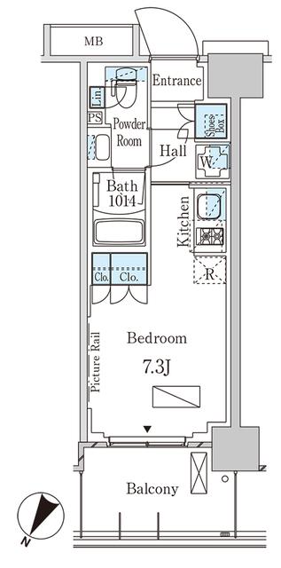 パークアクシス横浜大通り公園・210号室の間取り