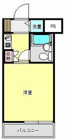 ライオンズマンション新横浜B館 206号室の間取り