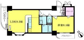 大須賀第二レジデンス 1003号室の間取り